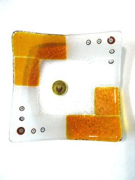 ベネチアンガラス飾皿A  TORCELLO M    AA3180 Orange