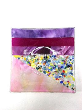 ベネチアンガラス飾皿A  VENEZIA     L  AA3309 Pink