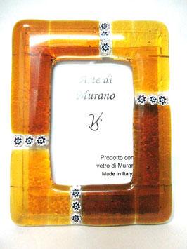 ベネチアンガラスフォトスタンド MURANO M   AA3132 Orange