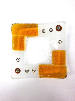ベネチアンガラス飾皿A  TORCELLO S      AA3179 Orange