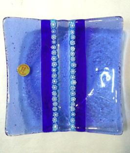 ベネチアンガラス飾皿A SERENELLA M         AA3083 Blue