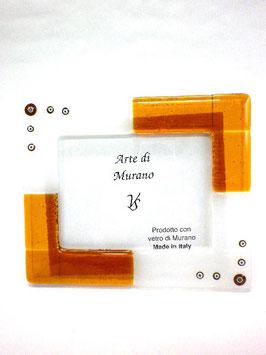 ベネチアンガラスフォトスタンド TORCELLO YL  AA3178 Orange