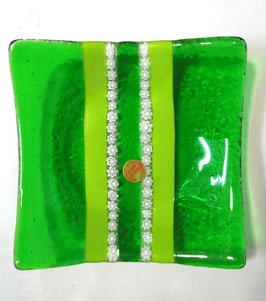 ベネチアンガラス飾皿A SERENELLA M         AA3083 Green