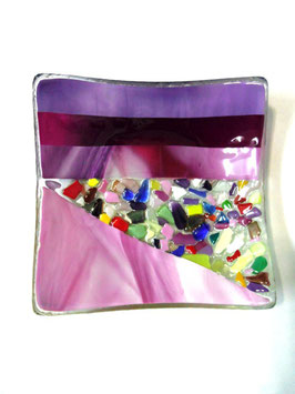 ベネチアンガラス飾皿A  VENEZIA     M  AA3308 Pink