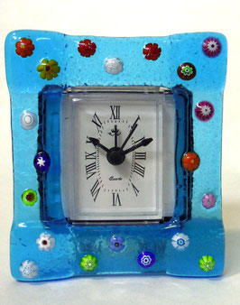 ベネチアンガラス置時計 FREZZERIA S            AA3029 Blue