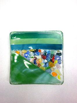 ベネチアンガラス飾皿A  VENEZIA     S  AA3307 Green