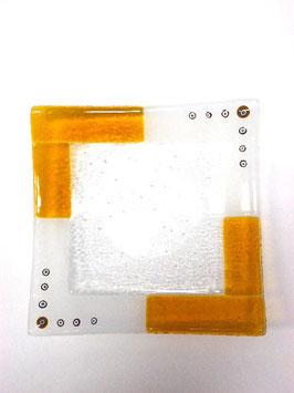 ベネチアンガラス飾皿A  TORCELLO L     AA3181 Orange