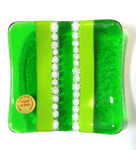 ベネチアンガラス飾皿A SERENELLA S         AA3082 Green