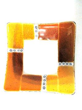 ベネチアンガラス飾皿A  MURANO M      AA3138 Orange