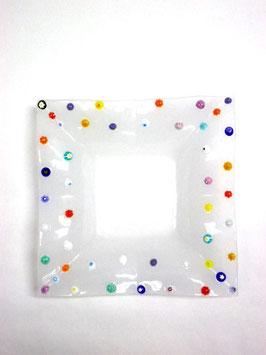 ベネチアンガラス飾皿B FREZZERIA M        AA3023 White