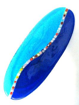 ベネチアンガラス飾皿C  MURANO M         AA3149 Blue