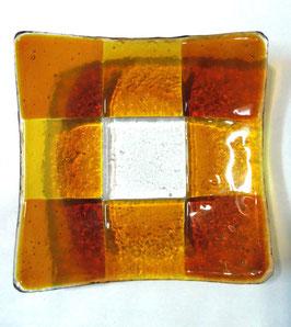 ベネチアンガラス飾皿A GIUDECCA M         AA3258 Orange