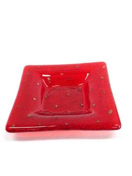 ベネチアンガラス飾皿A               イタリアンレッド M 5665R