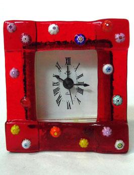 ベネチアンガラス置時計 FREZZERIA S            AA3029 Red