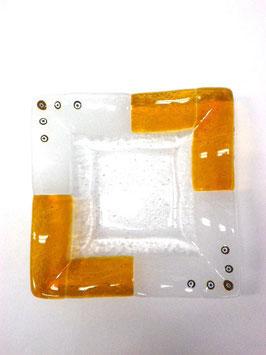 ベネチアンガラス飾皿B TORCELLO M    AA3183 Orange