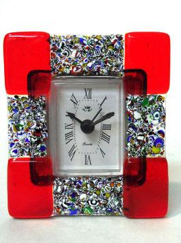 ベネチアンガラス置時計 CA D'ORO S    AA3068   Red