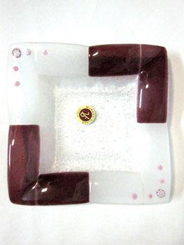 ベネチアンガラス飾皿B TORCELLO M    AA3183 Purple