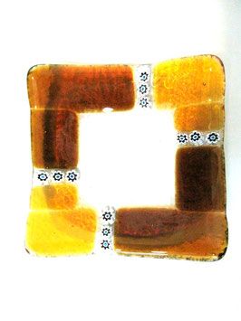 ベネチアンガラス飾皿A  MURANO S         AA3137 Orange
