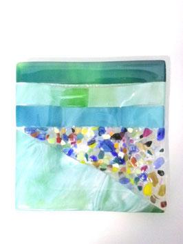 ベネチアンガラス飾皿B  VENEZIA     M  AA3312 Green