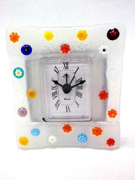 ベネチアンガラス置時計 FREZZERIA S            AA3029 White