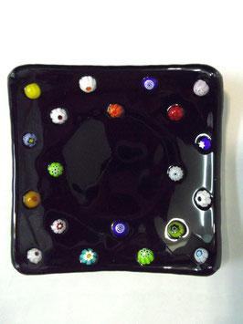ベネチアンガラス飾皿A FREZZERIA S         AA3018 Black
