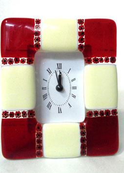 ベネチアンガラス置時計 DUCARE M    AA3047   Red
