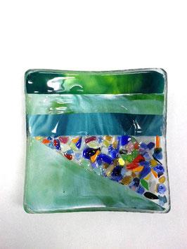 ベネチアンガラス飾皿A  VENEZIA     M  AA3308 Green