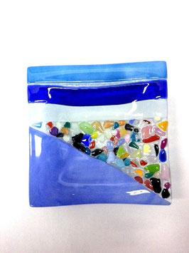 ベネチアンガラス飾皿B  VENEZIA     S  AA3311 Blue