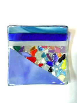ベネチアンガラス飾皿A  VENEZIA     S  AA3307 Blue