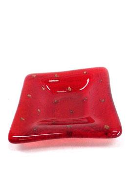 ベネチアンガラス飾皿A              イタリアンレッド S 5664R