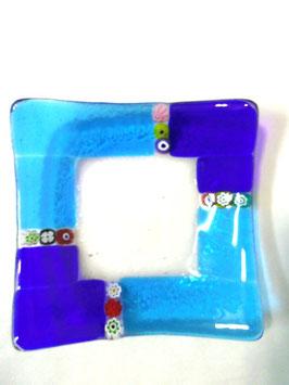 ベネチアンガラス飾皿A  MURANO M      AA3138 Blue