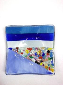ベネチアンガラス飾皿A  VENEZIA     M  AA3308 Blue