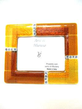ベネチアンガラスフォトスタンド MURANO YL  AA3136 Orange