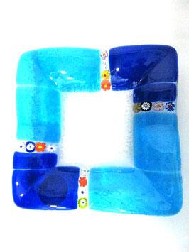 ベネチアンガラス飾皿B  MURANO S         AA3141 Blue