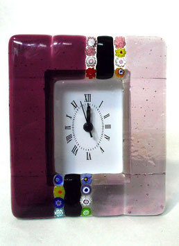 ベネチアンガラス置時計 CASANOVA M    AA3223   Pink