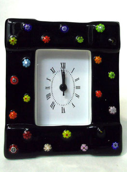 ベネチアンガラス置時計 FREZZERIA M            AA3030 Black