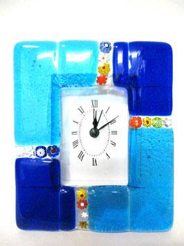 ベネチアンガラス置時計 MURANO M           AA3154 Blue