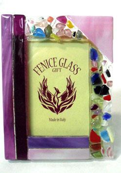 ベネチアンガラスフォトスタンド VENEZIA  M           AA3302 Pink