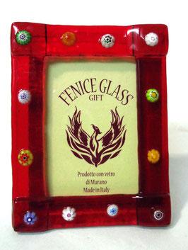 ベネチアンガラスフォトスタンド FREZZERIA S  AA3012 Red
