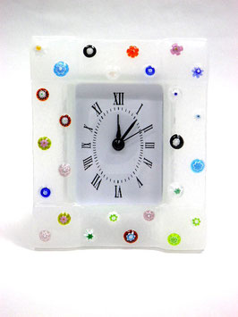 ベネチアンガラス置時計 FREZZERIA M            AA3030 White