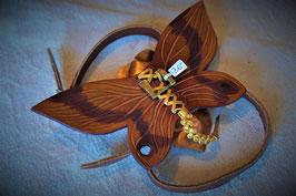 Harnais Papillon en cuir - Chat ou petit Chien