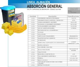 KLA150B KIT CONTROL DERRAMES LINEA ALMACEN 150 LTS CAPACIDAD DE ABSORCION