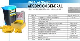 KLA165B KIT CONTROL DERRAMES LINEA ALMACEN 165 LTS CAPACIDAD DE ABSORCION