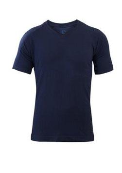 Herren Avoir Shirt kurzarm blau