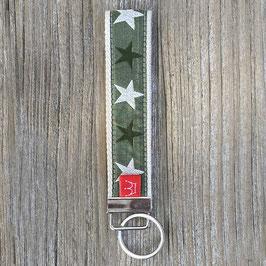 Webband-Schlüsselanhänger Sterne