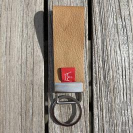 Leder-Schlüsselanhänger natur