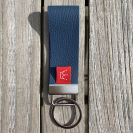 Leder-Schlüsselanhänger jeansblau