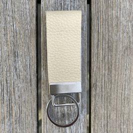 Leder-Schlüsselanhänger vanille