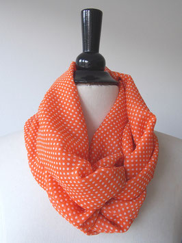 Chiffon | orange | Punkte