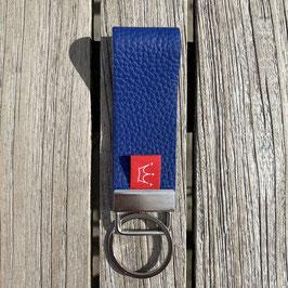 Leder-Schlüsselanhänger tintenblau